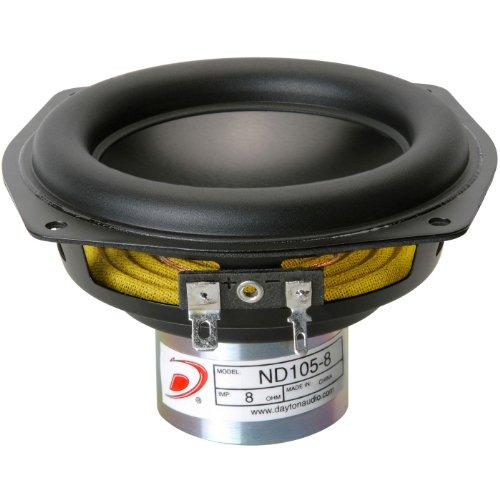 "Dayton Audio Nd105-8 4"" Aluminum Cone Midbass Driver 8 Ohm"