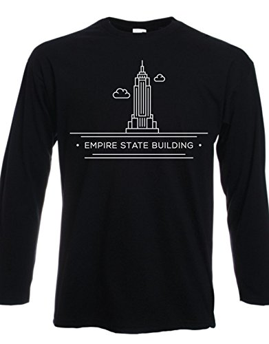 tshirt-manches-longues-citta-new-york-empire-state-building-taille-pour-homme-et-femme-by-tshirteria