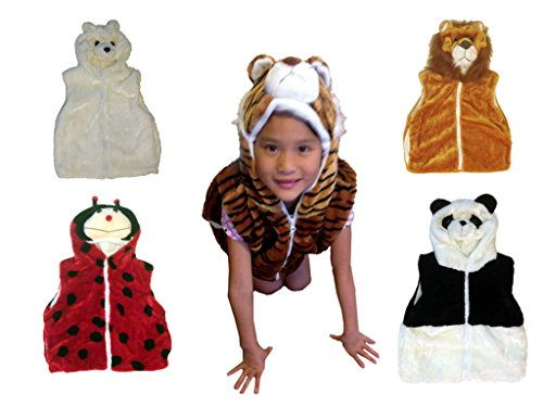 Fashion Vest with Animal Hoodie for Kids - Dress Up Costume - Pretend Play