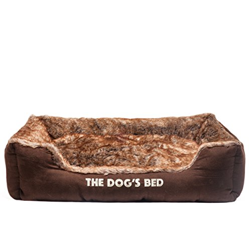 the-dogs-bed-premium-plush-dog-beds-in-brown-top-quality-faux-fur-faux-suede-fully-washable-with-rem