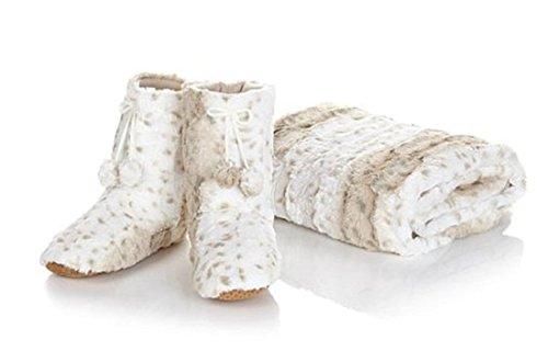 adrienne-landau-faux-fur-throw-and-booties-beige-lynx-leopard-xl