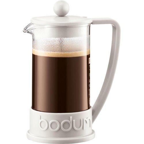 Bodum Brazil 3-Cup French Press Coffee Maker 12oz White 10948913BUS