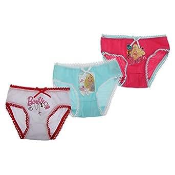 Amazon.com: Childrens/Kids Little Girls 100% Cotton Barbie Briefs