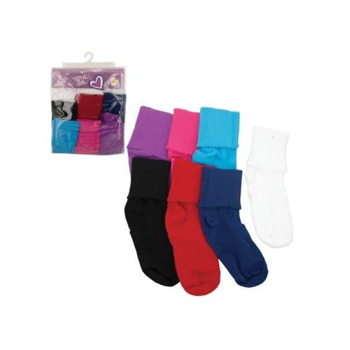 Bulk Buys Women Girls Colored Bobby Socks Pack (Girls Size 10 1/2 - 3 1/2) Pack Of 5 front-253670