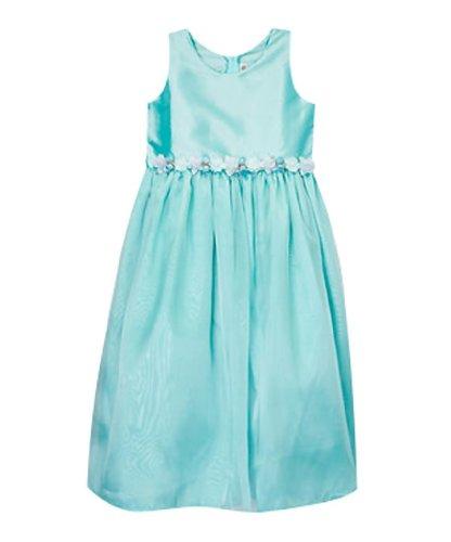 Classykidzshop Aqua Satin Flower Girl Special Event Holiday Dress - 2T