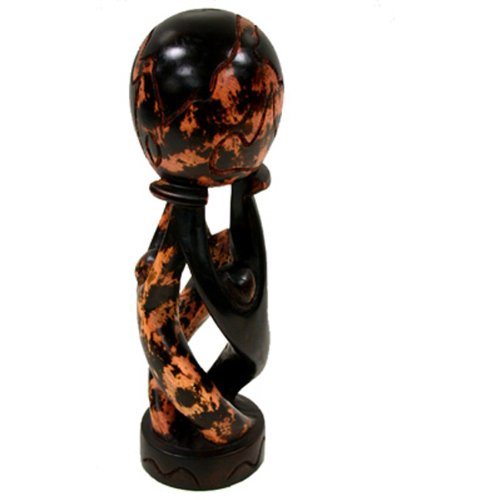 Amazon.com: African Unity Globe Wood Carving - Handmade in Ghana