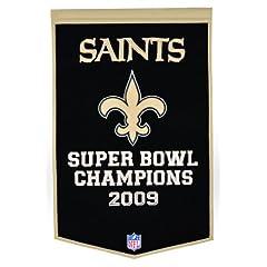 Buy New Orleans Saints Official Wool Dynasty Banner by Winning Streak by Winning Streak