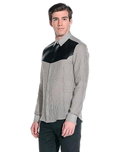 Costume National Camicia Uomo [Beige/Nero]
