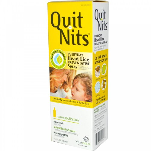 Hylands Homeopathic Wild Child Quit Nits Head Lice Preventative Spray 120 ml
