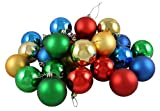 Vickerman Ball Set, Includes 24 Per Box, 2.4-Inch, Red/Gold/Green/Blue