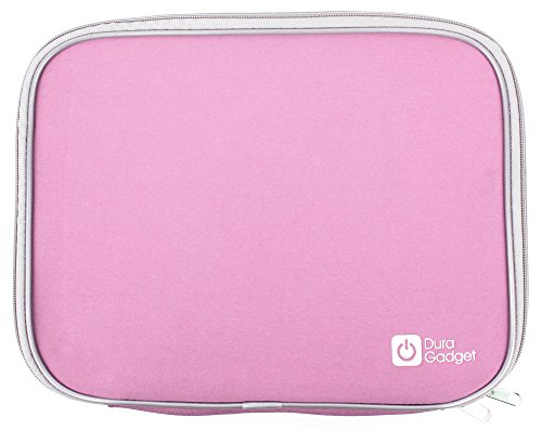 Duragadget Pink Water Resistant & Shock Absorbent Neoprene Carry Case With Dual Zips For Acer Iconia W700 11.6-Inch Tablet (Intel Core I5 3317U 1.7Ghz, Wi-Fi, Windows 8), Acer Iconia Tab A700 32 Gb & Acer Iconia Tab A210 - (Nvidia Tegra T30l 1.2Ghz, Androi