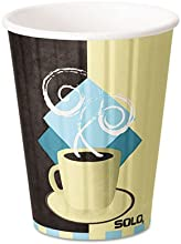 NEW - Duo Shield Hot Insulated 12 oz Paper Cups Beige 600Carton - IC12