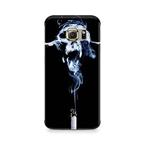 Motivatebox- Smoking Kills Samsung S7 cover -Matte Polycarbonate 3D Hard case Mobile Cell Phone Protective BACK CASE COVER. Hard Shockproof Scratch-
