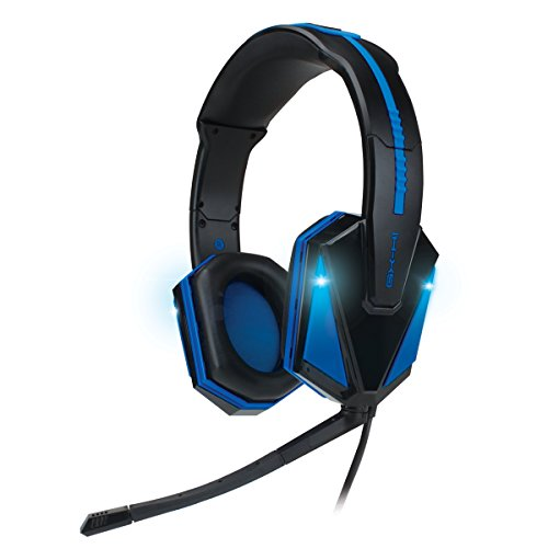 Enhance Gx-H1 Blue Led Pro Gaming Usb Headset With Virtual 7.1 Surround Sound, Detachable Mic, And In-Line Volume Controls - For Battlefield 4 , Call Of Duty: Advanced Warfare , Dota 2 , Titanfall , Diablo 3 , League Of Legends , Civilization 5 & More