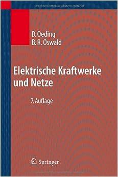 Elektrische Kraftwerke und Netze (German Edition): Dietrich Oeding