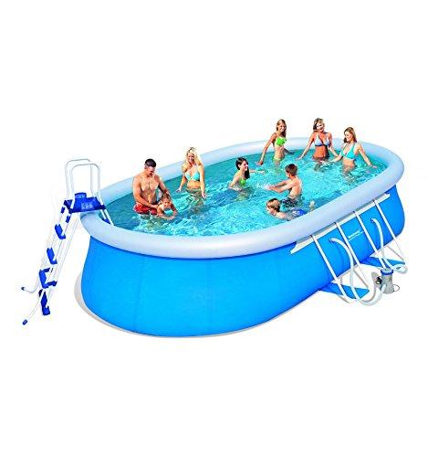 Oval Fast Set Pool-Set Pools ab 549 cm, l, l, 366 cm, Höhe 122 cm BESTWAY 56152 günstig online kaufen