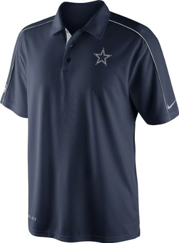 Dallas Cowboys Navy Nike 2012 Sideline Coaches 1 Dri-Fit Performance Polo at Amazon.com