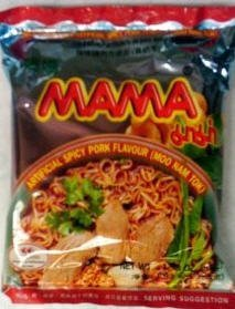 Mama Artificial Spicy Pork Flavour -Moo Nam Tok- (Thai Noodle)