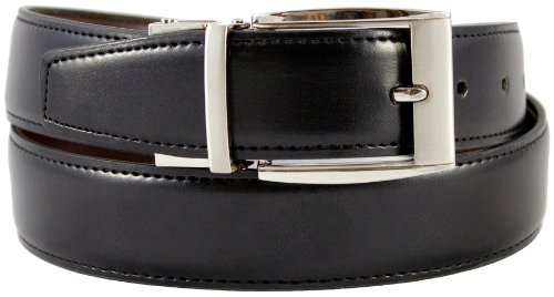 The Vegan Collection Julian Black and Brown Reversible Belt, Size 30