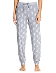Limited Collection Cotton Rich Feather Print Pyjama Bottoms