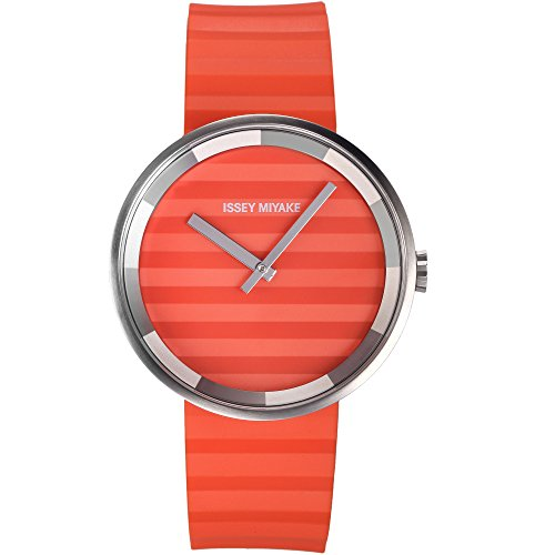 Montre design mixte ISSEY MIYAKE SILAAA03 analogique bracelet silicone