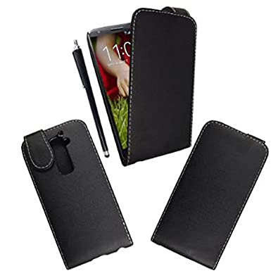 STYLEYOURMOBILE {TM} LG G2 MINI (D620) PRINTED PU LEATHER MAGNETIC FLIP CASE COVER + STYLUS (Black)