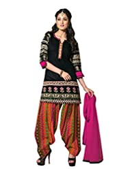 Ritu Creation Women's New Cotton Stitched Patyala Suit With Fancy Sleeve Work - B015FGYCK2