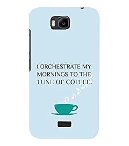 PrintVisa Coffee Quotes Design 3D Hard Polycarbonate Designer Back Case Cover for Huawei Honor Bee