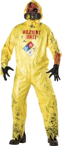 Hazmat Hazard Costume - Mens Medium