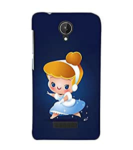 Cute Princess Girl 3D Hard Polycarbonate Designer Back Case Cover for Micromax Canvas Spark Q380