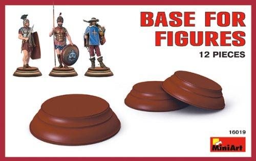 Mini Art 16019 Pack of 12 Plastic Figure Bases for 1:16 figures