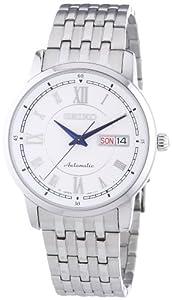 Seiko Herren-Armbanduhr XL Mechanik Analog Automatik Edelstahl SRP257J1