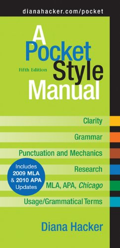 A Pocket Style Manual 5e with 2009 MLA Update
