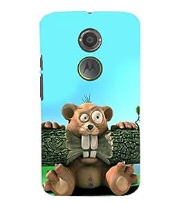 printtech Cartoon Beaver Back Case Cover for Motorola Moto X2::Motorola Moto X (2nd Gen)