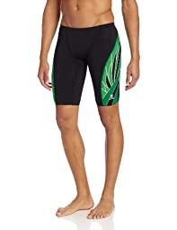 TYR  Men\'s Phoenix Splice Jammer Swimsuit (Black/Green, 30)