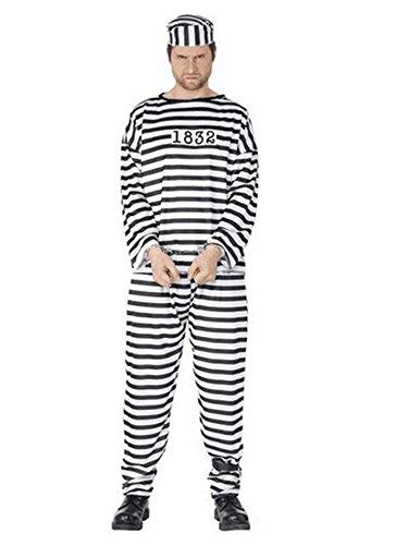 罪滅ぼし 囚人服 3点 セット ハロウィン コスプレ 小道具 (衣装のみ)