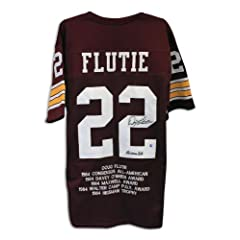 Doug Flutie Boston College Eagles Maroon Throwback Jersey with Embroidered Stats...