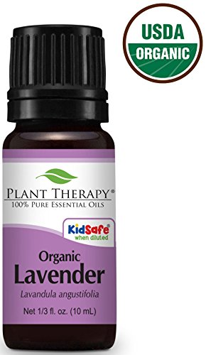 Organic Lavender Essential Oil. USDA Certified 10 ml (1/3 oz). 100% Pure, Undiluted, Therapeutic Grade.