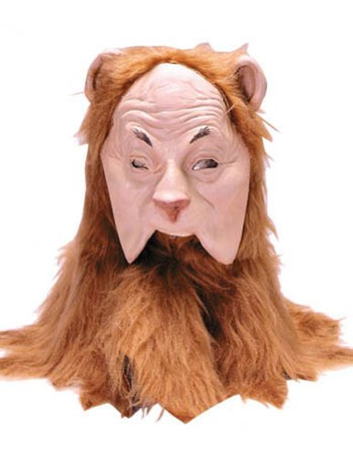 Scary-Masks Cowardly Lion Mask Halloween Costume - Most Adults