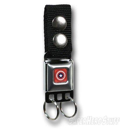 Captain America Shield Seatbelt Buckle Keychain