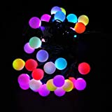 LEDwholesalers LED Color-Changing Linkable 16 Feet Christmas Light String with 50 RGB Globes, 2070