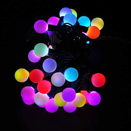 50 RGB Ball LED Color Changing with 16 Feet Linkable String Christmas Xmas Lights by LEDwholesalers, 2070