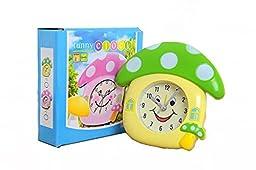 Lovely smile mushroom house alarm clock (Green)