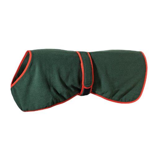 2-TECH-Hunde-Greyhound-Galgo-Fleecemantel-dunkelgrn-Rckenlnge-bis-zu-8128-cm-32-inch