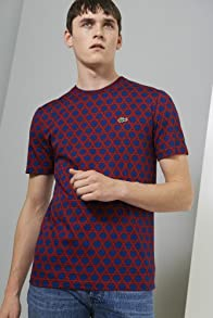 L!ve Short Sleeve Cotton Jersey Trellis Pattern Printed T-shirt