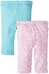 Gerber Baby-Girls Newborn 2 Pack Girls Leggings, Pink, 0-3 Months