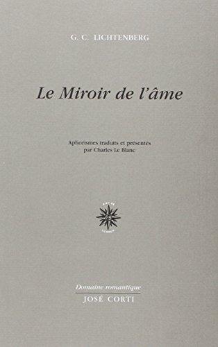 libro le miroir de l 39 me di georg christoph lichtenberg