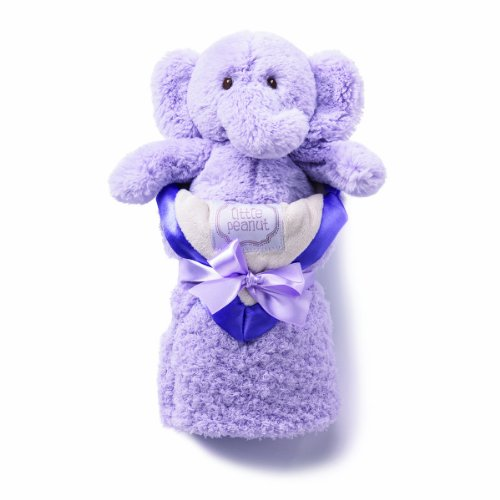 kathy ireland Plush and Blanket Set, Lilac Elephant - 1