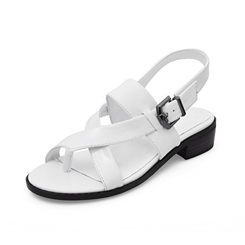 agoolar-womens-patent-leather-open-toe-low-heels-buckle-solid-sandals-white-36