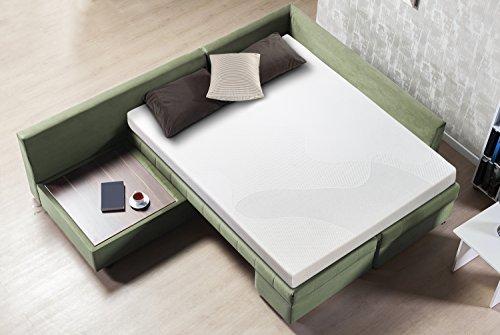Sleep Master Cool Gel Memory Foam 5 Inch Sleeper Sofa Mattress, Replacement Sofa Bed Mattress, Queen